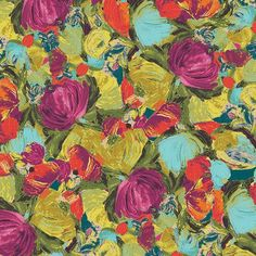 Cactus Flora Berry SGE-14452, SAGE, Art Gallery Fabrics, by Bari J  100% Premium Cotton Quilting or Apparel Weight 44/45 Inches Wide  Fabric sold by the yard, multiple yards purchased will be cut continuous.  For other fabrics in the the SAGE collection: