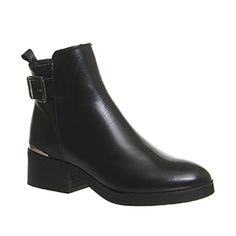 Office Innovate Strap Ankle Boots Black Box Leather - Ankle Boots