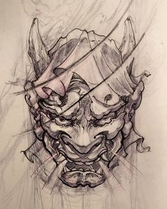 Hannya tattoo design