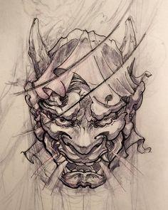 Hannya for tmrw. #sketch #irezumi #illustration #hannya #irezumicollective #asiantattoo #tattoo #chronicink