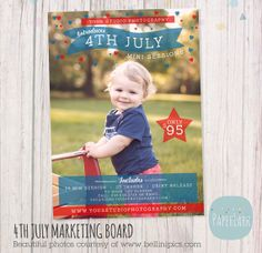 4th July Marketing Board Template IT001 from Paper Lark Designs