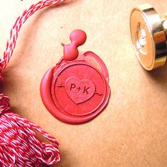 Heart in Love Wax Seal Stamp Two Initials Heart and by artcarf. Only $18 !!!!