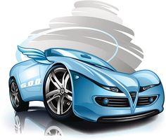 Стилизованный шикарной гоночный автомобиль