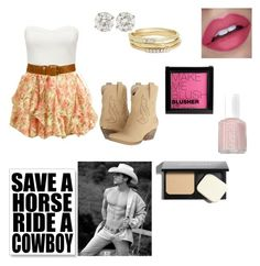 """""""Save a horse..."""" by jamzm ❤ liked on Polyvore featuring Forever New, Volatile, H&M, Bobbi Brown Cosmetics, Essie and Jules Smith"""