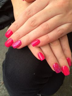 Acrylics with perfect match gel polish