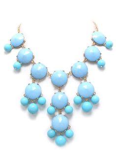 light blue bubble necklace
