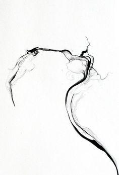 franziska furter, turbulences/phuyu (detail), ink on paper. Smoke Tattoo, Brush Tattoo, Element Tattoo, Black And White Abstract, White Art, Zen Painting, Abstract Lines, Minimalist Art, Tattoo Sketches