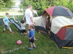 allergi warrior, backyard campout, american backyard