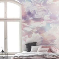 Wall Murals Painted Abstract Products 69 Ideas For 2019 Cloud Wallpaper, Custom Wallpaper, Wallpaper Roll, Bedroom Wallpaper, Cloud Bedroom, Beach Bedding Sets, Relaxation Room, Relaxing Room, 4 Elements