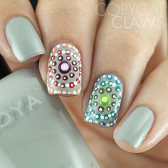 Copycat Claws: The Digit-al Dozen does Re-Creations: Day 5 Concentric Dotticure