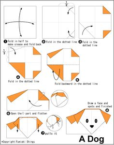 Dog - Easy Origami instructions For Kids