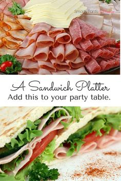 Make Your Own Sandwich Platter Party Idea - From football games, to get togthers, a sandwich platter is a smart and easy way to feed a large crowd. Read my tips to do it right.