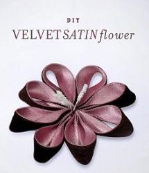 Velvet Satin Flower