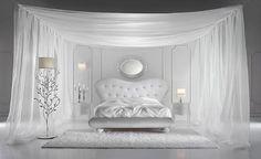 Pretty Elegant Glamorous Italian Bedroom Design Idea With Beautiful Bright Illumination Baroque Furniture, Modern Bedroom Furniture, Furniture Design, White Bedroom Design, Bedroom Designs, Bedroom Ideas, Luxurious Bedrooms, Beautiful Bedrooms, Bed Design