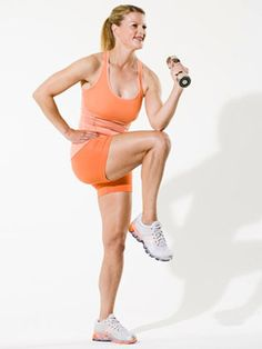 Multitask with this firm-and-burn fast workout that combines your cardio with your strength training. You'll tone up and work off mega calories, all in less than 20 minutes.