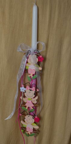Easter candle bees - Margarita Creations