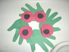 Handprint and poppy wreath