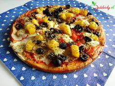 Pizza z tvarohového cesta Vegetable Pizza, Healthy Recipes, Healthy Food, Diet, Vegetables, Basket, Healthy Foods, Healthy Eating Recipes, Vegetable Recipes