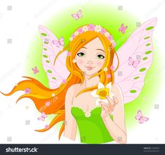 Spring Fairy With Narcissus stock photos and royalty-free images, vectors and illustrations Free Vector Images, Vector Free, Spring Fairy, Flower Fairies, Illustration Girl, Girl Illustrations, Digital Stamps, Art Images, Royalty Free Images