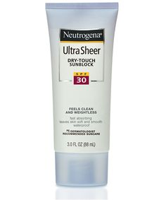 Neutrogena Dry Touch. Use this as a moisturizer and sunscreen everyday. Great under makeup.