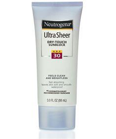 Neutrogena Ultra Sheer Dry-Touch Sunblock SPF 30 - matte, antioxidants, waterproof