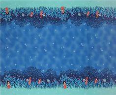 Tissu pour enfants par Sarah Jane de la collection « Wee Wander » avec des enfants et des lucioles