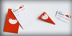 Paper Plane business card design and layout