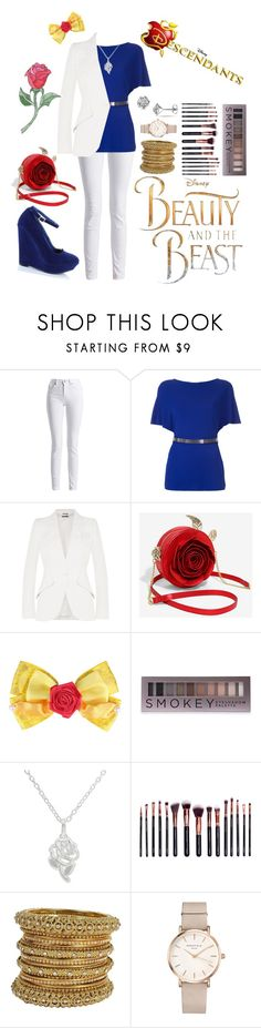 """(Y/N) Daughter of Belle and Beast: Outfit #1"" by midnightrose306 ❤ liked on Polyvore featuring Barbour International, Lanvin, Alexander McQueen, Disney, Forever 21, M.O.T.D Cosmetics and ROSEFIELD"