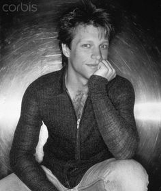 Jon Bon Jovi in gorgeous B&W photo