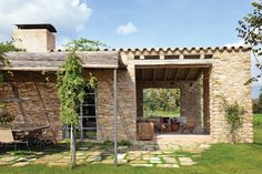 Monday Inspiration: Mediterranean home in Catalonia Natural Homes, Mediterranean Homes, Stone Houses, My Dream Home, Architecture Design, Pergola, Outdoor Structures, Exterior, Building