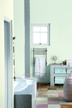 Choose a calming neutral shade like Nomadic Dream 56 to turn your bathroom into a place of sanctuary. Interior Paint, Interior And Exterior, Plascon Paint, Plascon Colours, Colour Story, Dream Painting, Woodstock, Cape Town, Calming