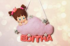 Personalized gift Felt Name Banner Girl portrait with cloud Personalized Name garland Nursery decor Custom kids sign hanging Birthday gift #Promotion… #PaidAd #ad #affiliatelink