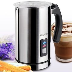 20 Awesome Gifts for Coffee Lovers - Hongkiat - Secura Automatic Milk Frother and Warmer. For those of you who prefer coffee with milk, this machin - Small Kitchen Appliances, Kitchen Gadgets, Kitchen Tools, Kitchen Products, Kitchen Ideas, Specialty Appliances, Coffee Lover Gifts, Coffee Lovers, Refreshing Drinks