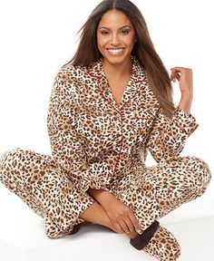 d6fc7388902 Charter Club Plus Size Holiday Lane Flannel Top and Pajama Pants Set Women  - Bras