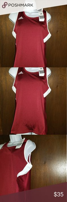 4090279335 Shop Women s adidas Red White size XL Tank Tops at a discounted price at  Poshmark.