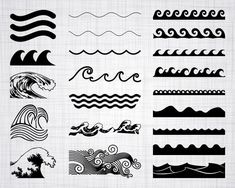 Discover recipes, home ideas, style inspiration and other ideas to try. Simbols Tattoo, Band Tattoo, Silhouette Studio Designer Edition, Ocean Wave Drawing, Wave Clipart, Adobe Illustrator, Image Svg, Wave Illustration, Waves Line