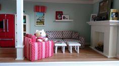 American girl dollhouse diy living room