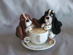 Polymer Clay Basset Hound Tea cup LOVE | Flickr - Photo Sharing!