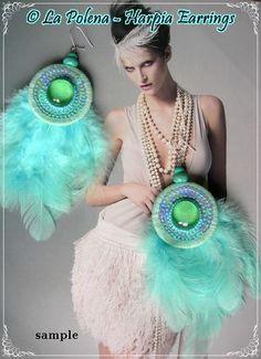 SERAPH orecchini perle di Artisan Feathered tipo I da di LaPolena