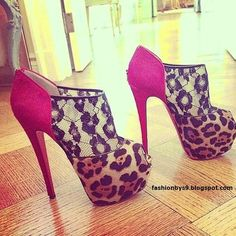 Cute leopard print heels!