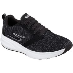 Skechers Women's Skechers Gorun Ride 7 Black - Skechers Performance... ($95) ❤ liked on Polyvore featuring shoes, athletic shoes, black, kohl shoes, skechers footwear, lightweight running shoes, athletic running shoes and knit shoes
