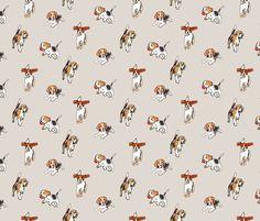 Beagles at Play by pixabo