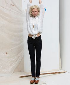 Erin Considine SS13 Datum Trio Necklace in Silver // Levi's Fall Outfits