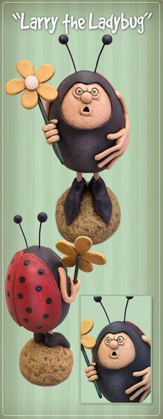 Larry the Ladybug - available on Primitive Folk Art Trinkets and Treasures Market Place