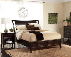 Kensington Sleigh Bed w/Storage (Queen) KT:65664