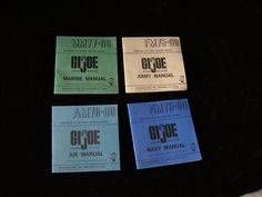 GI Joe G.I. Joe Manual Lot Hasbro 1964 lot of 4 #gijoe #vintagetoys #actionfigures #collectibles #collectables