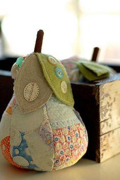 Pear pincushion by Providence Handmade, via Flickr