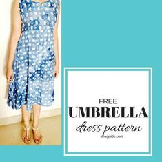 Umbrella Dress Free Sewing Pattern | This sundress tutorial shows you how to draft and sew this perfect summer umbrella dress!