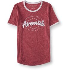 Aeropostale Aéropostale Diamond Ringer Graphic T ($8) ❤ liked on Polyvore featuring tops, t-shirts, red bark, diamond tee, graphic design tees, diamond graphic tees, relaxed tee and red t shirt