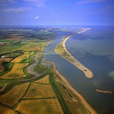 Photo Mug-Aerial view of Orford Ness (Orfordness), a cuspate foreland shingle spit-Ceramic dishwasher safe mug made in the UK Suffolk Coast, Suffolk England, Aldeburgh Beach, Framed Prints, Canvas Prints, English Countryside, Photo Mugs, Photo Gifts, Aerial View
